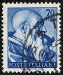 Sellos de Europa - Italia -  Personajes