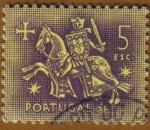 Stamps Europe - Portugal -  CABALLERO MEDIEVAL