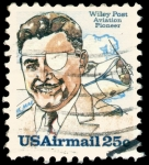 Sellos de America - Estados Unidos -  WILEY POST - PIONERO DE LA AVIACIÓN