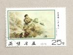 Sellos de Asia - Corea del norte -  Soldado con ametralladora