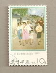 Stamps North Korea -  Familia