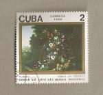 Stamps Cuba -  Flores