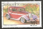 Stamps Africa - Republic of the Congo -  automóvil ford de 1933