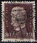 Stamps Germany -  Scott  383   Pres. Paul von Hindenburg (10)