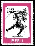 Sellos del Mundo : America : Perú : SÉRIE CHASQUI - MENSAJERO PERSONAL DEL INCA Y SÍMBOLO POSTAL PERUANO