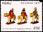 Sellos de America - Perú -  NAVIDAD 1971 - ANTIGUAS TALLAS EN PIEDRA DE HUAMANGA