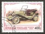 Stamps Africa - Togo -  automóvil packard de 1907