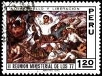 Sellos de America - Perú -  II. REUNION MINISTERIAL DE LOS 77.