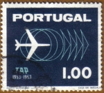Stamps Portugal -  X Aniver. Transporte Aereo