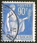Sellos de Europa - Francia -  TYPE PAIX FIGURA SIMBOLICA CON RAMO DE PAX