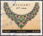 Sellos de Europa - Italia -  Italia 2010 Sello º Aniversario de Bvlgari Collar de oro y platino de la colección Vintage de Bulgar