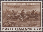 Stamps of the world : Italy :  Italia 1964 Scott 892 Sello ** Aniv. de los Carabinieri Carga de Pastrengo 70L Timbres Italie Italy