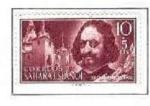 Stamps Spain -  SAHARA EDIFIL 172 (2 SELLOS)