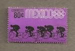 sellos de America - México -  Olimpiadas 68, ciclismo
