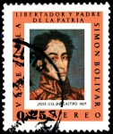 Stamps of the world : Venezuela :  RETRATO DE SIMÓN BOLÍVAR POR JOSÉ GIL DE CASTRO