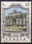 Stamps of the world : Italy :  Italia 1973 Scott 1128 Sello º Fuentes Famosas Fontana di Trevi Roma Timbre Italie Italy Stamp Franc