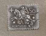Stamps Portugal -  Guerrero a caballo