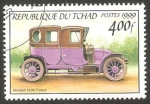 Sellos del Mundo : Africa : Chad : automóvil renault de 1906