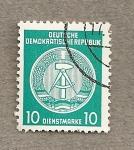 Stamps Germany -  Emblema de DDR