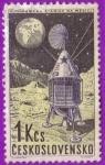 Stamps : Europe : Czechoslovakia :  Automaticka Stanice Na Mesici