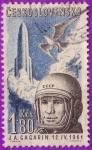 Stamps : Europe : Czechoslovakia :  J. A. Gagarin