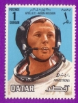 Stamps Qatar -  Apollo 11 - Moon Mission