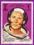 Stamps : Asia : Qatar :  Apollo 11 - Moon Mission