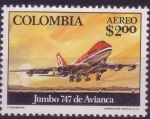 Stamps of the world : Colombia :  jumbo 747 de avianca