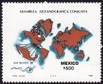 Stamps Mexico -  asamblea oceanográfica conjunta