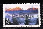 Sellos del Mundo : America : Estados_Unidos : lago Wyoming