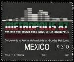 Stamps Mexico -  Congreso mundial de grandes metrópolis
