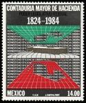 Sellos del Mundo : America : México : Contaduría mayor de hacienda-HONESTIDAD , EFICIENCIA Y ORDEN EN TRES DIMENSIONES