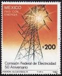 Sellos de America - M�xico -  50 Aniversario de la  Comisi�n Federal de electricidad