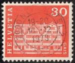 Sellos de Europa - Suiza -  Edificios y monumentos
