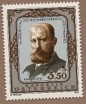 Sellos del Mundo : Europa : Austria : 125 Aniversario del Barón  Christian von Ehrenfels - Filósofo Austriaco