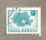 Sellos de Europa - Rumania -  Mapa de teléfonos