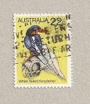 Sellos de Oceania - Australia -  Martín pescador de cola blanca