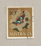Stamps Australia -  Anémona