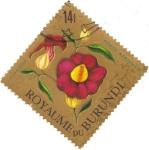 Stamps Africa - Burundi -  Flor - Thumbergia