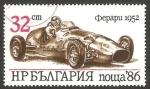 Sellos del Mundo : Europa : Bulgaria :  3065 - Automóvil deportivo Ferrari 1952