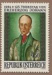 Stamps Austria -  125 aniversario muerte de Johann Erzherzog