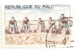 Stamps Africa - Mali -  Pescadores