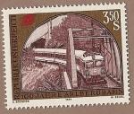 Stamps Austria -  Centenario del ferrocarril de Arlbergbahn