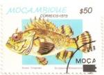 Stamps Africa - Mozambique -  Pez tropical: Escórpora