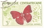 Stamps Africa - Central African Republic -  Mariposa