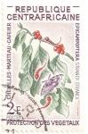 Stamps Central African Republic -  Protección de las plantas