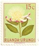 Sellos de Africa - Rwanda -  Flores