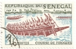 Stamps Africa - Senegal -  Carrera de piraguas