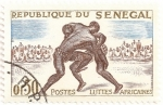 Stamps Senegal -  Lucha africana