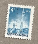 Sellos de Europa - Hungría -  Torre comunicaciones de Pecs